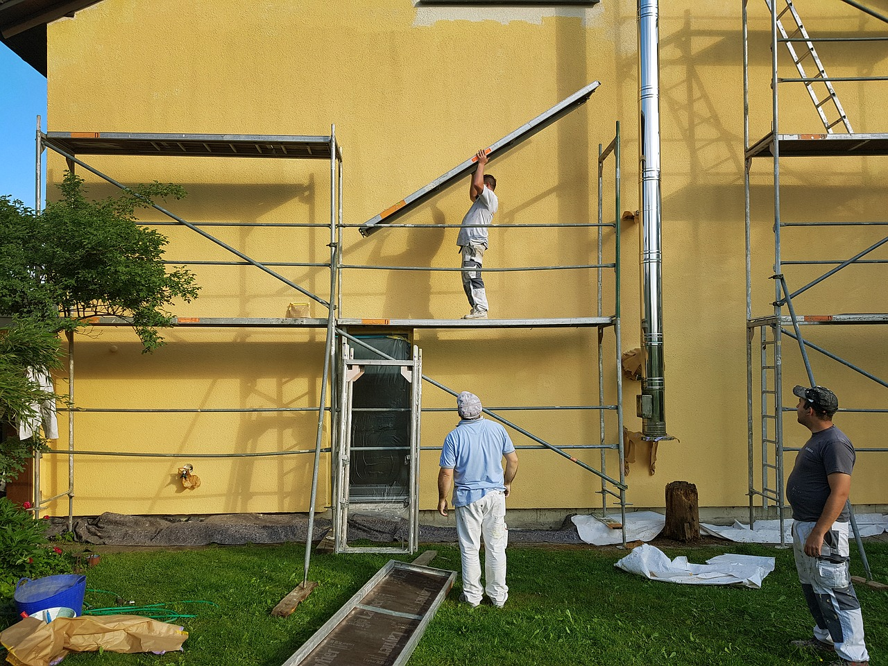 scaffold, build up, painter